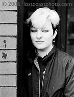 Carol, in front of Wax Trax; April 1981